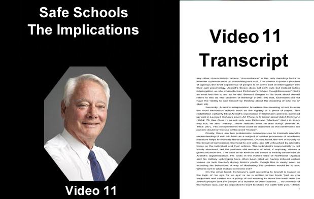 Safe Schools - Implications - Transcripts