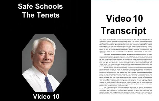 Safe Schools - Tenets - Transcript
